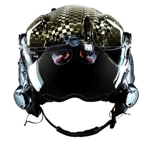 한 밤중에도 모든것을 볼 수 있는 하이테크 파일럿 헬멧