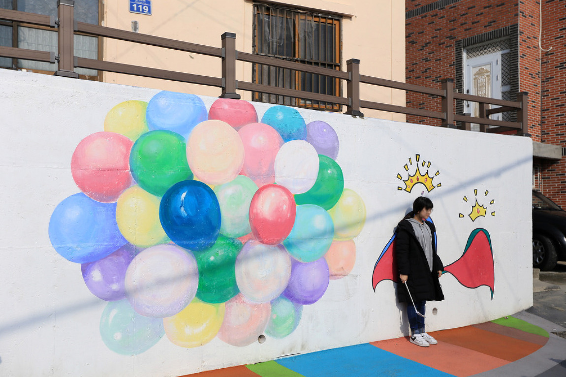 [부산 / 감천문화마을] 알록달록 벽화가 예쁜,,, 감천문화벽화마을 # 4박5일 부산여행 2017