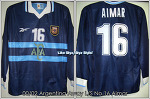 00/02 Argentina Away L/S No.16 Aimar Match Worn Shirt (SOLD OUT)