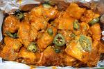 거제옥포 감통반치킨 감자튀김과 통닭 반마리