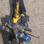 건담 밴시노른 (MG. final battle ver.) 무기류 장착