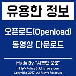 오픈로드(Openload) 동영상 다운로드 방법