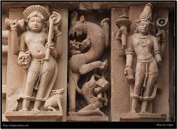 조각상 클로즈업 (Khajuraho, India)