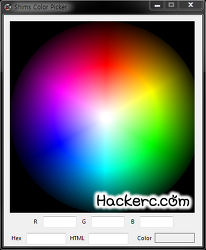 HTML 색상코드, html color codes 찾기 - Shims Color Picker v1.0