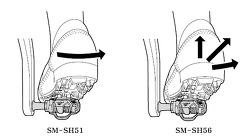 시마노 클릿,SM-SH51,SH-56 차이점
