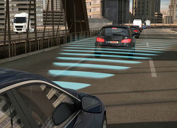 Bosch ACC automatically maintains the right distance
