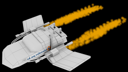 Steampunk 우주선 - 엔진 불꽃