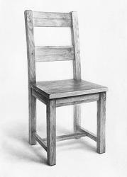 [기초질감소묘 / 과정작] 나무의자