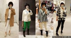 화이트,크림색상으로 겨울패션을 즐기는 스타일링