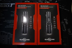 Surefire EB1T-A-BK Backup XP-E vs. XP-E2 comparison