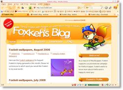 모질라 파이어폭스 Foxkeh 3.0 테마