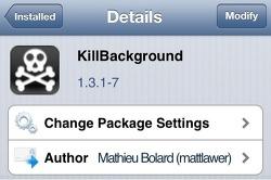[시디아 트윅] KillBackground 1.3.1-7 (실행 중인 어플을 모두 종료 시켜주는 기능)