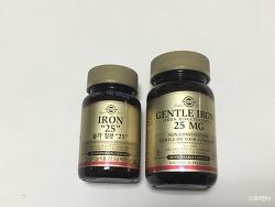 솔가 철분제 젠틀 아이언 25mg (국내vs.직구)