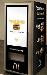트윗을 하면 무료로 빅맥을 제공  - TMcDonald's Big Macs ATM-