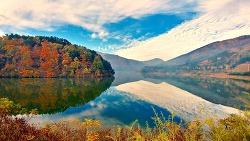 36번 국도에서 만난 가을풍경과 반영