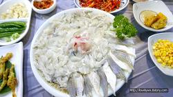[해운대맛집/해운대횟집] 봄에는 역시 도다리가 최고! '빨간산오징어'