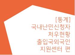[통계] 국내 난민신청자 처우 현황-출입국외국인지원센터 편 (2017.12.31기준)