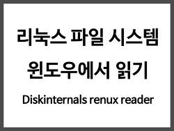 DiskIntenals Linux Reader - 윈도우에서 리눅스 파일시스템 읽기
