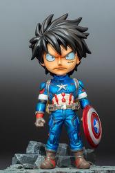 prince studio one piece x avenger  sd captain american luffy / 소왕자 원피스 X 어벤져스 sd 캡틴 아메리카 루피