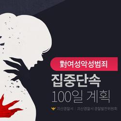 對여성악성범죄 집중단속 100일 계획