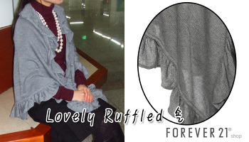 [FOREVER21] 봄코디패션 포에버21 Lovely Ruffled 숄
