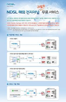 NDSL 해외 전자저널 과월호 무료 서비스