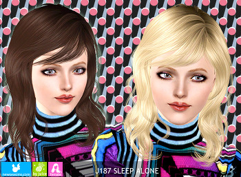 NewSea-SIMS3-hair-J187-Sleep Alone