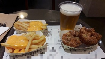 시럽 월렛 1+1 쿠폰으로 저렴한 맥주 한 잔 - KFC 클라우드 생맥주 425ml.