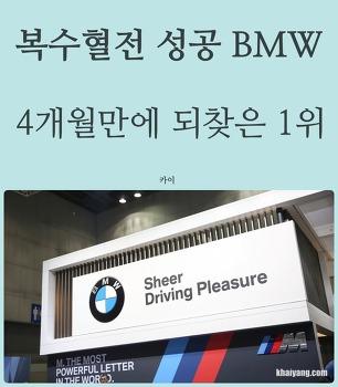 복수혈전 성공 BMW, 4개월만에 되찾은 1위