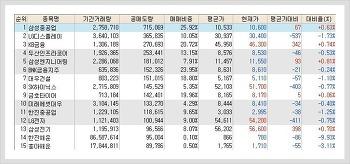 코스피, 코스닥 공매도(공매도량) 순위 (1월 25일)