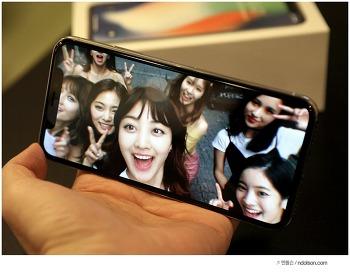아이폰X 동영상 재생시 화면, 단점, M자탈모 배경화면 가리기팁