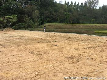 용인시 전원주택신축사례 : CIP기초공사 후 터파기와 버림콘크리트 타설