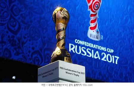 2017 컨페드컵 조추첨, '개최국' 러시아-포르투갈 한 조