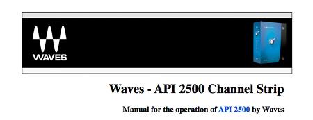 Waves - API 2500