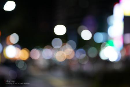 소니 sel70200gm 야간 보케놀이