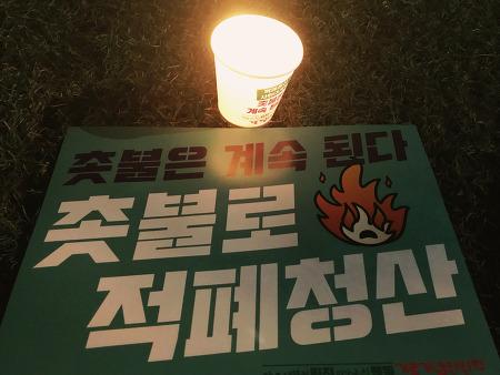 촛불 혁명 1주년