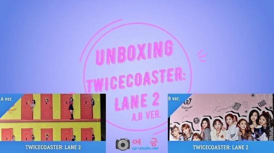 [00.00.00](Unboxing Album) TWICE(트와이스) TWICEcoaster : LANE 2 A,B ver. (Title : KNOCK KNOCK) by 여금