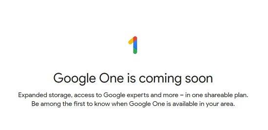 Google One 출시 예정