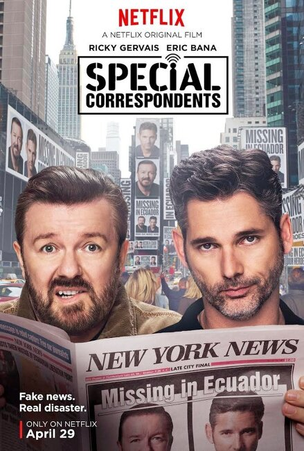 특파원(Special Correspondents)... 릭키 제바이스, 에릭 바나, 베라 파미가... 그럭 저럭 볼만한 코미디영화 특파원