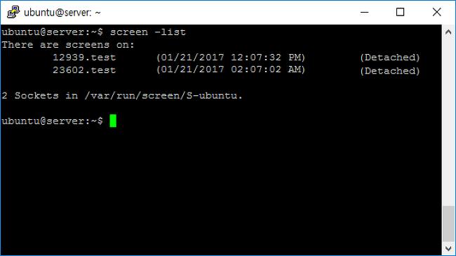 screen, 자유롭고 안정적인 Linux session의 사용