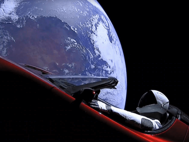 현실이 된 우주를 달리는 '자동차'. 은하철도999가 꿈은 아니다.