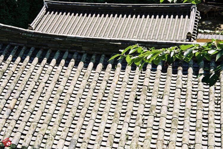 양동마을 기와지붕