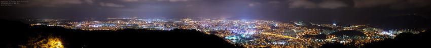 대전 보문산에서 바라본 야경 [파노라마]