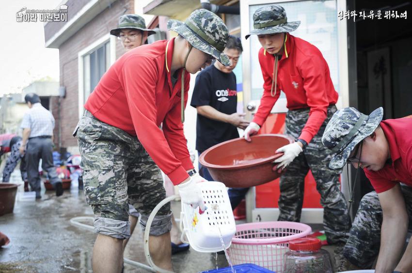 태풍 '차바'가 강타한 지역, 국민들의 아픔을 함..