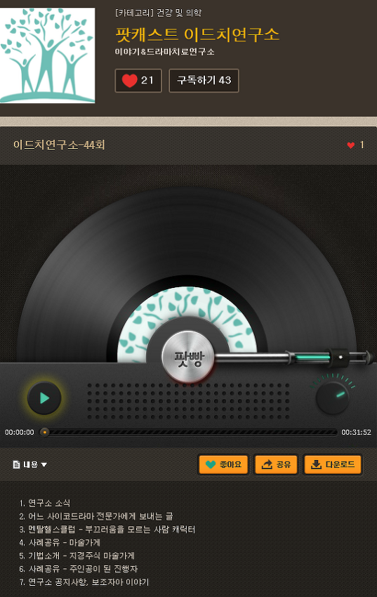 팟캐스트 이드치연구소 제44회 방송
