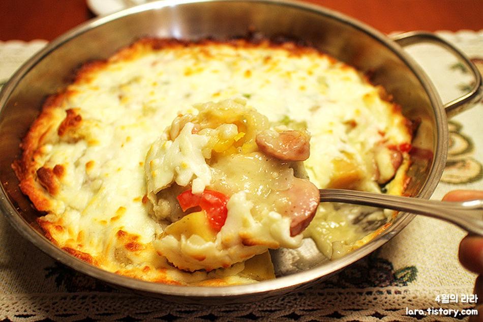 집에서 피자만들기, 떠먹는 피자