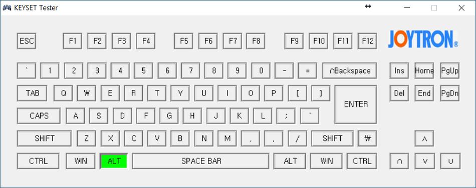 키보드가 눌려지지 않을 때: 키보드 테스트 프로그램(키셋테스터)