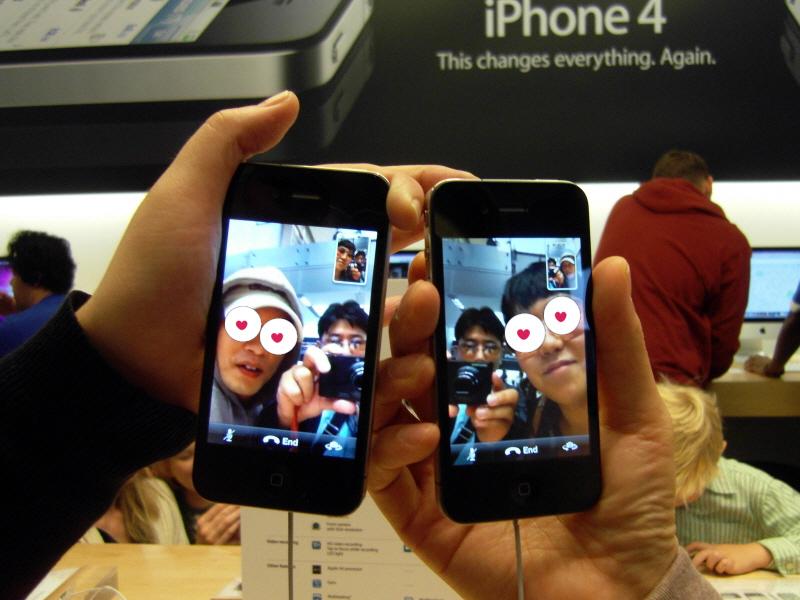 샌프란시스코 애플스토어 아이폰4