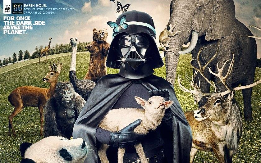 '다스 플래더'와 함께하는 '다크 사이드'로 지구 살리기 운동(WWF' EARTH HOUR. 2010)