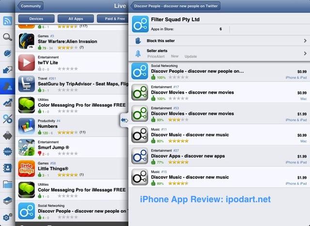 아이폰 아이패드 앱 검색 트랙커 AppZapp HD